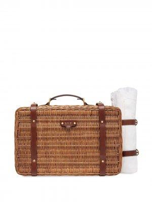 Корзина для пикника с логотипом Fendi. Цвет: коричневый