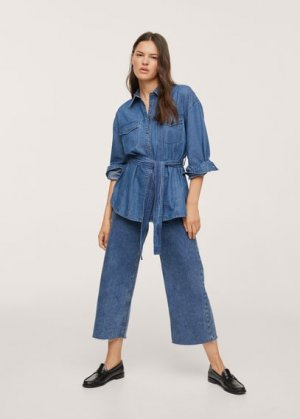 Верхняя рубашка -- - Gaia-h Mango. Цвет: синий средний
