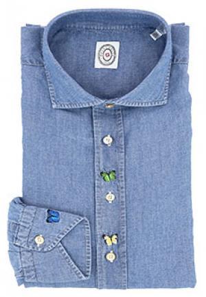 Рубашка CAMICERIA SCABO. Цвет: голубой