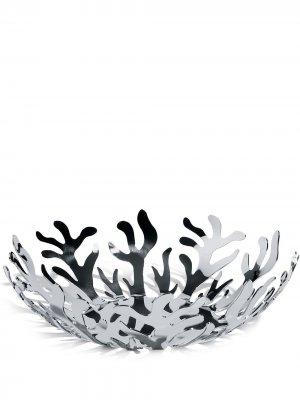 Большая ваза для фруктов Mediterraneo Alessi. Цвет: серебристый