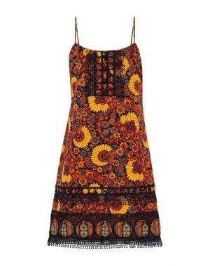 Короткое платье ANNA SUI. Цвет: оранжевый