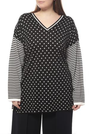 Пуловер Marina Rinaldi. Цвет: черный, белый