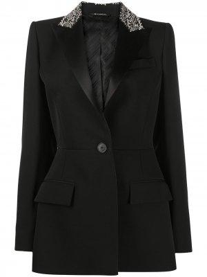 Блейзер с вышивкой Givenchy. Цвет: черный