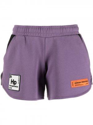 Спортивные шорты Periodic с логотипом Heron Preston. Цвет: фиолетовый