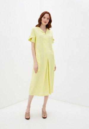 Платье Dimma. Цвет: желтый
