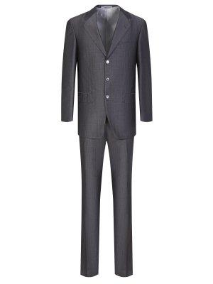 Однотонный костюм Castangia. Цвет: серый