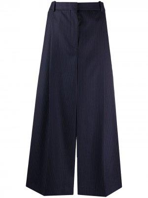 Укороченные брюки в тонкую полоску Nina Ricci. Цвет: черный