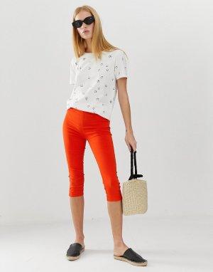 Эластичные брюки капри -Красный b.Young