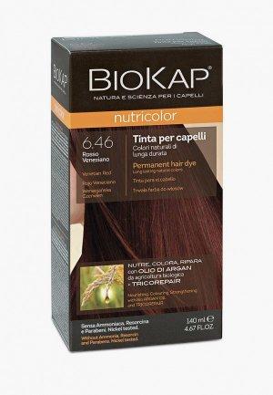 Краска для волос Biokap венецианский красный 6.46, 140 мл. Цвет: бордовый