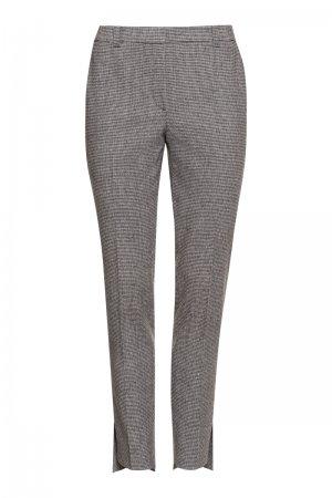 Зауженные брюки с перепадом длины VASSA&Co. Цвет: серый