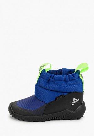 Дутики adidas. Цвет: синий