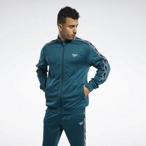 Спортивная куртка Classics Vector Tape Reebok. Цвет: deep teal