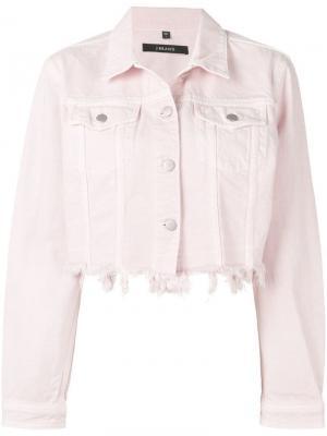 Джинсовая куртка с эффектом потертости J Brand