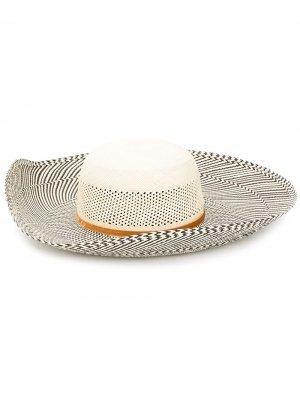 Соломенная шляпа Magnolia THE FREYA BRAND. Цвет: нейтральные цвета