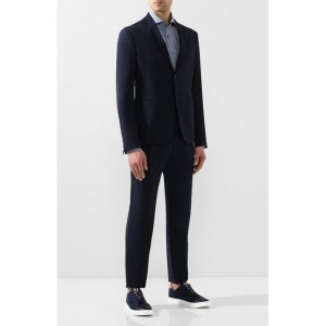 Шерстяной костюм Giorgio Armani. Цвет: синий
