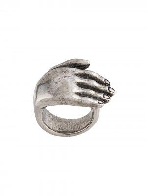 Кольцо с тиснением Ann Demeulemeester. Цвет: серебристый