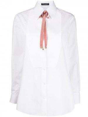 Поплиновая рубашка Dolce & Gabbana. Цвет: белый