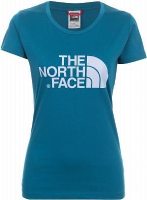 Футболка женская Easy, размер 46-48 The North Face. Цвет: синий