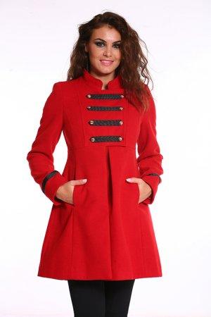 Пальто Ines Collezione. Цвет: красный