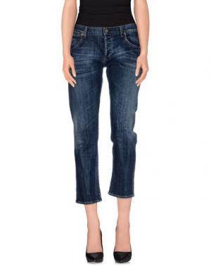 Джинсовые брюки-капри CITIZENS OF HUMANITY. Цвет: синий