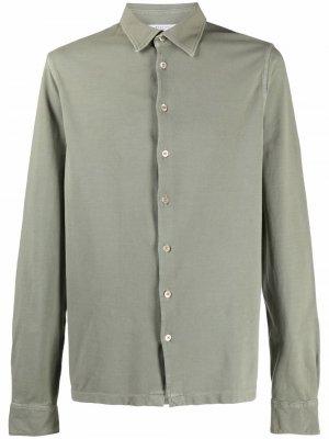 Рубашка из джерси с длинными рукавами Boglioli. Цвет: зеленый