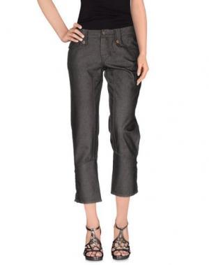 Джинсовые брюки-капри FRANKIE MORELLO. Цвет: серый