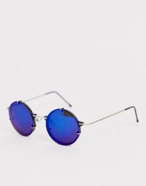 Круглые солнцезащитные очки в синей оправе IFT-Синий Spitfire