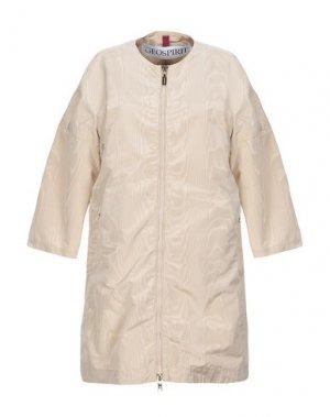 Легкое пальто GEOSPIRIT. Цвет: бежевый