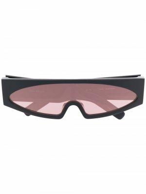 Солнцезащитные очки Gene в D-образной оправе Rick Owens. Цвет: черный