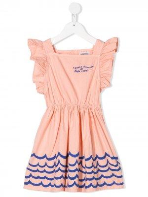 Расклешенное платье с принтом Bobo Choses. Цвет: розовый