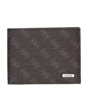 Бумажник GUESS. Цвет: темно-коричневый