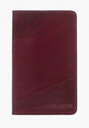 Обложка для паспорта Alexander Tsiselsky Unica. Цвет: бордовый