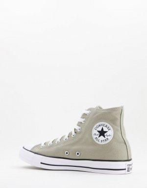 Высокие кеды выбеленного цвета хаки Chuck Taylor All Star Hi-Зеленый цвет Converse