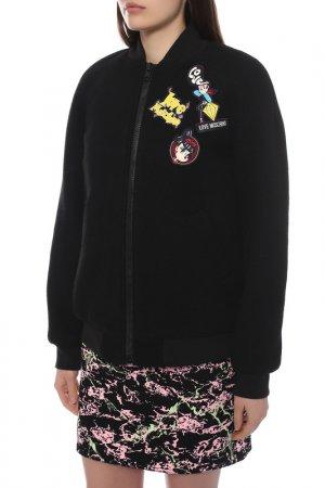 Куртка-бомбер Love Moschino. Цвет: черный c74
