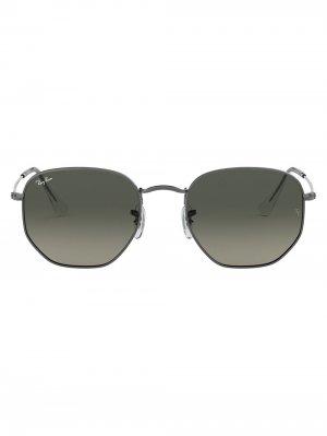 Солнцезащитные очки в шестиугольной оправе Ray-Ban. Цвет: черный