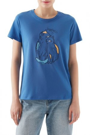 Футболка Short Sleeve Top Mavi. Цвет: голубой