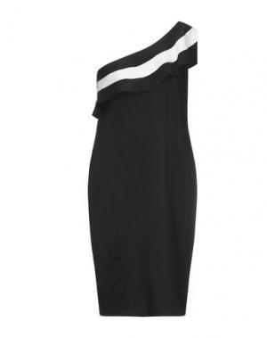 Платье миди CLIPS. Цвет: черный