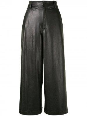 Укороченные широкие брюки Wiles A.L.C.. Цвет: черный