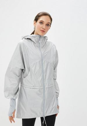Ветровка ASICS LONG JACKET. Цвет: серый