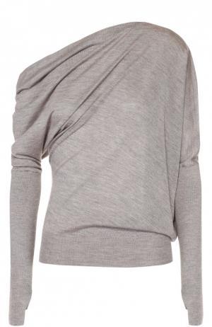 Кашемировый пуловер асимметричного кроя Tom Ford. Цвет: серый