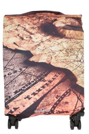 Чехол на чемодан Gianni Conti. Цвет: бежевый