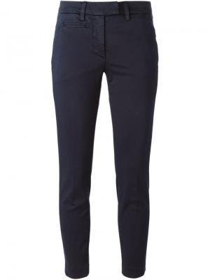 Укороченные брюки-чинос Dondup. Цвет: синий