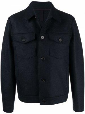 Фетровая куртка Harris Wharf London. Цвет: синий