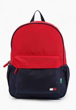 Рюкзак и пенал Tommy Hilfiger. Цвет: разноцветный