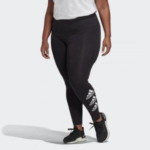 Леггинсы Stacked Logo (Plus Size) Athletics adidas. Цвет: черный