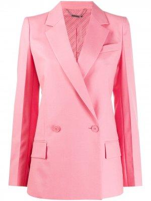 Двубортный блейзер строгого кроя Givenchy. Цвет: розовый