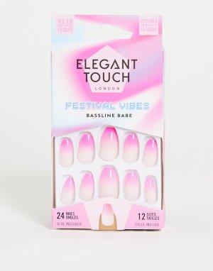 Накладные ногти (Bassline Babe)-Розовый цвет Elegant Touch