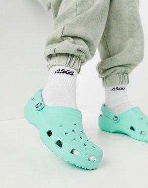 Классические кроксы фисташкового цвета -Зеленый цвет Crocs