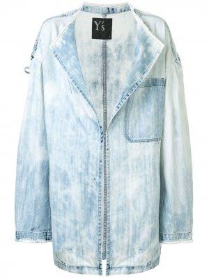 Ys джинсовая куртка оверсайз Y's. Цвет: синий