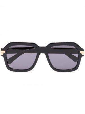 Square-frame sunglasses Bottega Veneta Eyewear. Цвет: черный
